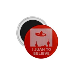 I Juan To Believe Ugly Holiday Christmas Red Background 1.75  Magnets