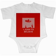 I Juan To Believe Ugly Holiday Christmas Red Background Infant Creepers
