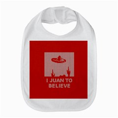 I Juan To Believe Ugly Holiday Christmas Red Background Bib