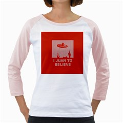 I Juan To Believe Ugly Holiday Christmas Red Background Girly Raglans