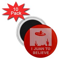 I Juan To Believe Ugly Holiday Christmas Red Background 1.75  Magnets (10 pack)