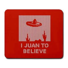 I Juan To Believe Ugly Holiday Christmas Red Background Large Mousepads
