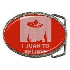 I Juan To Believe Ugly Holiday Christmas Red Background Belt Buckles