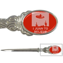 I Juan To Believe Ugly Holiday Christmas Red Background Letter Openers