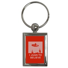 I Juan To Believe Ugly Holiday Christmas Red Background Key Chains (rectangle)