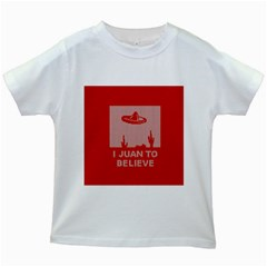I Juan To Believe Ugly Holiday Christmas Red Background Kids White T-Shirts