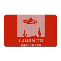 I Juan To Believe Ugly Holiday Christmas Red Background Magnet (Rectangular)