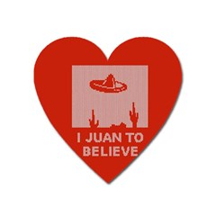 I Juan To Believe Ugly Holiday Christmas Red Background Heart Magnet