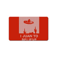 I Juan To Believe Ugly Holiday Christmas Red Background Magnet (Name Card)