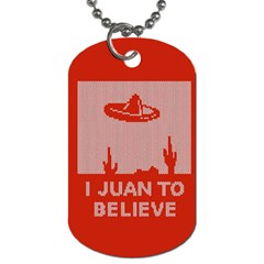 I Juan To Believe Ugly Holiday Christmas Red Background Dog Tag (One Side)