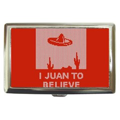 I Juan To Believe Ugly Holiday Christmas Red Background Cigarette Money Cases