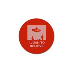 I Juan To Believe Ugly Holiday Christmas Red Background Golf Ball Marker