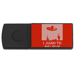 I Juan To Believe Ugly Holiday Christmas Red Background USB Flash Drive Rectangular (4 GB)