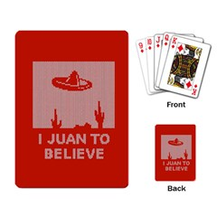I Juan To Believe Ugly Holiday Christmas Red Background Playing Card