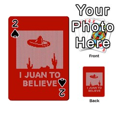 I Juan To Believe Ugly Holiday Christmas Red Background Playing Cards 54 Designs