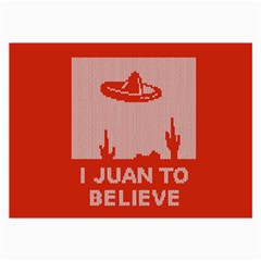 I Juan To Believe Ugly Holiday Christmas Red Background Collage Prints