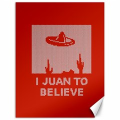 I Juan To Believe Ugly Holiday Christmas Red Background Canvas 12  x 16