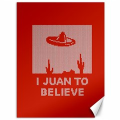 I Juan To Believe Ugly Holiday Christmas Red Background Canvas 36  x 48