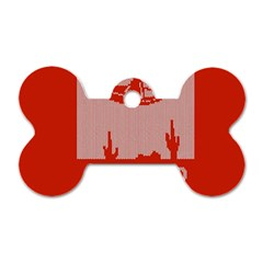 I Juan To Believe Ugly Holiday Christmas Red Background Dog Tag Bone (One Side)