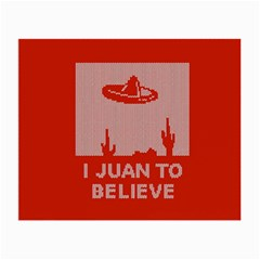 I Juan To Believe Ugly Holiday Christmas Red Background Small Glasses Cloth (2-Side)