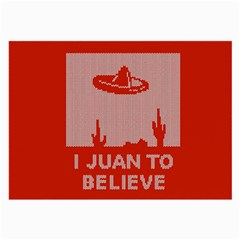 I Juan To Believe Ugly Holiday Christmas Red Background Large Glasses Cloth (2-Side)