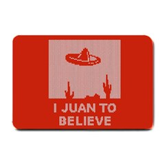 I Juan To Believe Ugly Holiday Christmas Red Background Small Doormat