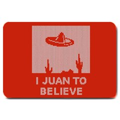 I Juan To Believe Ugly Holiday Christmas Red Background Large Doormat