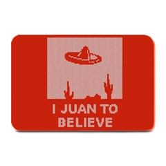 I Juan To Believe Ugly Holiday Christmas Red Background Plate Mats