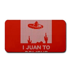 I Juan To Believe Ugly Holiday Christmas Red Background Medium Bar Mats