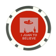 I Juan To Believe Ugly Holiday Christmas Red Background Poker Chip Card Guards