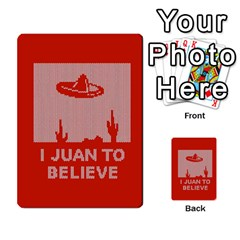 I Juan To Believe Ugly Holiday Christmas Red Background Multi-purpose Cards (Rectangle)