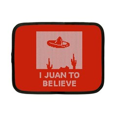 I Juan To Believe Ugly Holiday Christmas Red Background Netbook Case (Small)