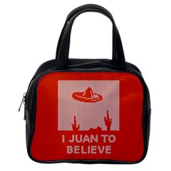 I Juan To Believe Ugly Holiday Christmas Red Background Classic Handbags (One Side)