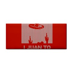 I Juan To Believe Ugly Holiday Christmas Red Background Hand Towel
