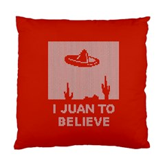 I Juan To Believe Ugly Holiday Christmas Red Background Standard Cushion Case (Two Sides)