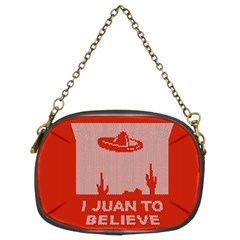 I Juan To Believe Ugly Holiday Christmas Red Background Chain Purses (Two Sides)