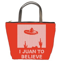 I Juan To Believe Ugly Holiday Christmas Red Background Bucket Bags