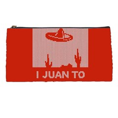 I Juan To Believe Ugly Holiday Christmas Red Background Pencil Cases