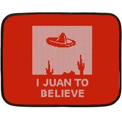 I Juan To Believe Ugly Holiday Christmas Red Background Double Sided Fleece Blanket (Mini)