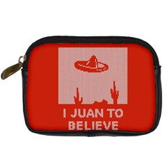 I Juan To Believe Ugly Holiday Christmas Red Background Digital Camera Cases