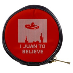 I Juan To Believe Ugly Holiday Christmas Red Background Mini Makeup Bags