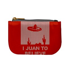 I Juan To Believe Ugly Holiday Christmas Red Background Mini Coin Purses