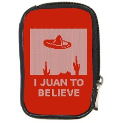 I Juan To Believe Ugly Holiday Christmas Red Background Compact Camera Cases