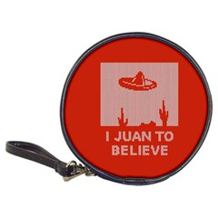I Juan To Believe Ugly Holiday Christmas Red Background Classic 20-CD Wallets