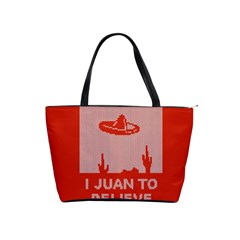 I Juan To Believe Ugly Holiday Christmas Red Background Shoulder Handbags