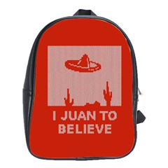 I Juan To Believe Ugly Holiday Christmas Red Background School Bags(Large)