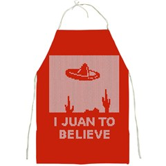 I Juan To Believe Ugly Holiday Christmas Red Background Full Print Aprons