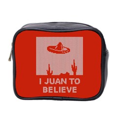 I Juan To Believe Ugly Holiday Christmas Red Background Mini Toiletries Bag 2-Side