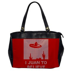 I Juan To Believe Ugly Holiday Christmas Red Background Office Handbags