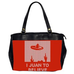I Juan To Believe Ugly Holiday Christmas Red Background Office Handbags (2 Sides)